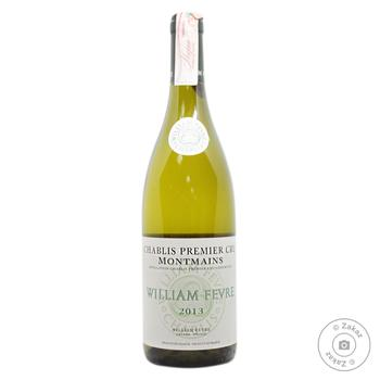 Вино Domaine William Fevre Chablis Premier Cru Montmains белое сухое 13% 0.75л - купить, цены на Восторг - фото 1