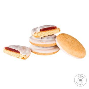Печиво (ваг) смак вишні в білій глазурі Деліція - купить, цены на Восторг - фото 1