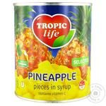 Ананас Tropic Life шматочками в сиропі 850мл - купити, ціни на МегаМаркет - фото 1