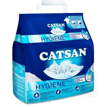 Наповнювач для туалету Catsan для котів 10л - купити, ціни на Ашан - фото 1