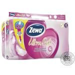 Туалетная бумага Zewa Ultra Soft четырехслойная 8 рулонов