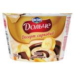 Десерт творожный Дольче банан с шоколадом 3,4% 200г