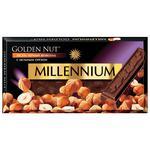 Millennium Golden Nut Black Chocolate with Whole Hazelnuts 90g