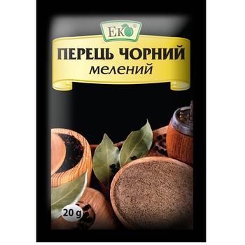 Перець Еко чорний мелений 20г - купити, ціни на CітіМаркет - фото 1