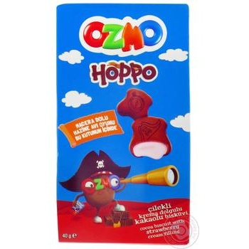 Печенье Ozmo Hoppo с какао и клубничным кремом 40г