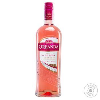 Вермут Oreanda Dolce Rosa розовый сладкий 15% 1л - купить, цены на Фуршет - фото 1