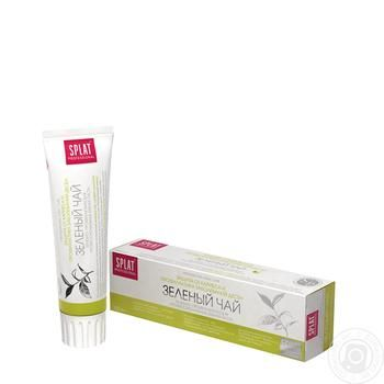 Зубная паста Splat Professional Зеленый чай биоактивная защита от кариеса 100мл