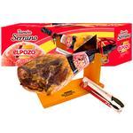 Хамон Серрано Elpozo + нож и точилка набор подарочный