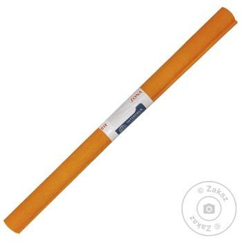 Бумага Interdruk гофрированная светло-оранжевая №05 200x50см - купить, цены на МегаМаркет - фото 1
