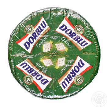 Сыр Kaserei Dorblu с благородной плесенью весовой 50%