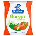 Йогурт Молочар клубника 1% 400г