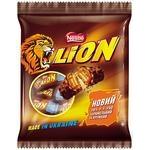 Конфеты Nestle Lion с карамелью Стандарт пакет 182г