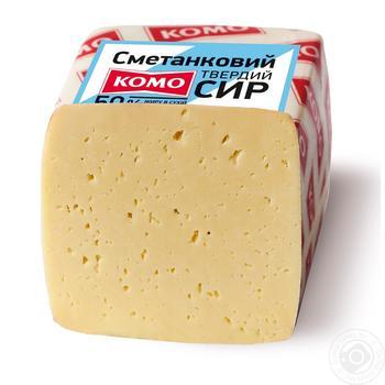 Сыр Комо Сметанковый твердый 50% - купить, цены на Novus - фото 1