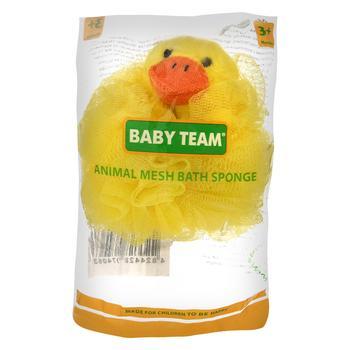 Дитяча мочалка-звірятко Baby Team