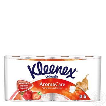 Скидка на Туалетная бумага Kleenex сочная клубника 8 рулонов