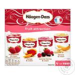 Набір морозива Haagen-Dazs фруктове асорті 4шт*95мл