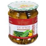 Огурцы Українська Зірка консервированные с зеленью 470г