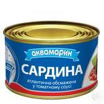 Сардины Аквамарин в томатном соусе 230г - купить, цены на Ашан - фото 1