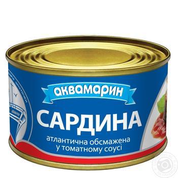 Сардины Аквамарин в томатном соусе 230г - купить, цены на Фуршет - фото 1