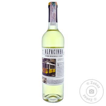 Вино Alfacinha VB IGP белое сухое 12,5% 0,75л