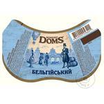 Пиво Львовское Robert Doms Бельгийский светлое нефильтрованное 4,3% 0,5л - купить, цены на Фуршет - фото 2