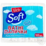 Ватные палочки Varto Soft косметические 100шт