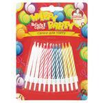 Pomichnytsya Colored Candles for Cake 24pcs