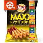 Lay's Maxx potato chips with chicken wings barbecue flavor 62g