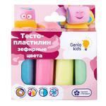 Тесто-пластилин Genio Kids Зефирные цвета 4шт