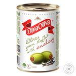 Оливки Diva Oliva зелені з анчоусом 300г - купити, ціни на МегаМаркет - фото 1