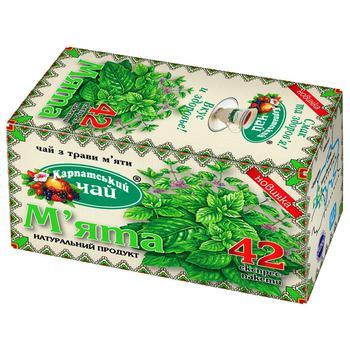 Чай трав'яний Карпатський чай М'ята 42шт - купити, ціни на Метро - фото 1
