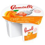 Сир зернистий Premialle абрикос-мед 7% 150г