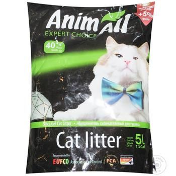 Наповнювач Animall для кошачьего туалета силікагель 5л