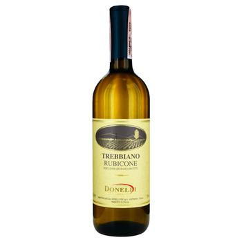 Вино Donelli Trebbiano белое сухое 11% 0,75л