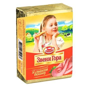 Сыр Звени Гора плавленый со вкусом бекона 90г