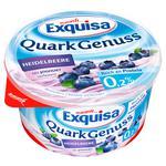 Десерт Exquisa творожный натуральный с черникой 0,2% 500г