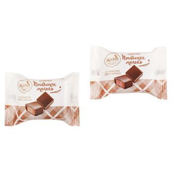 Конфеты Жако Птичье молоко вкус крем-какао весовые