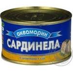 Сардинелла Аквамарин баланшована в масле 240г Украина
