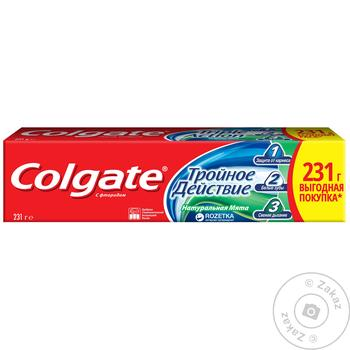 Colgate Triple Action Mint Toothpaste 150ml - buy, prices for Furshet - image 2