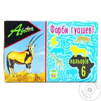 Paint Economix 6colors for drawing 60ml Ukraine - buy, prices for MegaMarket - image 1