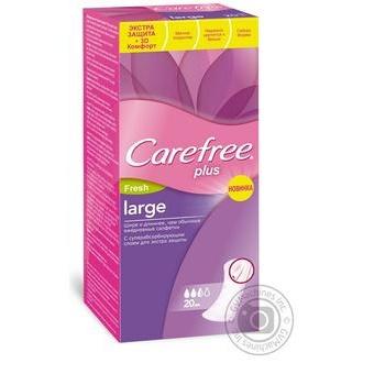Прокладки ежедневные Carefree Plus Large Fresh 2 капли 20шт