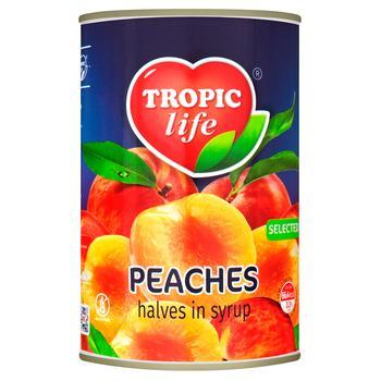 Персики Tropic life половинками в сиропе 425мл