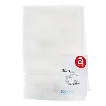 Полотенце Actuel белое 30х50см - купить, цены на Ашан - фото 1