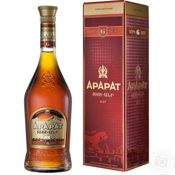 ARARAT Ani 6YO Brandy 500ml gift box