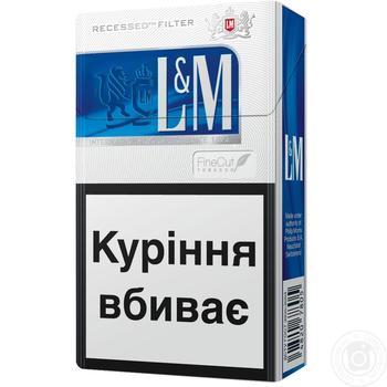 L&M Blue Label Cigarettes 20pcs - buy, prices for Novus - image 2