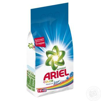 Стиральный порошок Ariel Горный родник автомат 3кг - купить, цены на Метро - фото 1