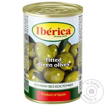 Оливки Иберика без косточки 300г - купить, цены на Фуршет - фото 1