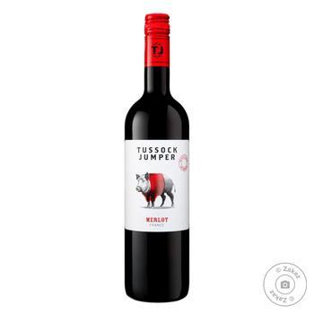 Вино Tussock Jumper Merlot красное сухое 13.5% 0.75л
