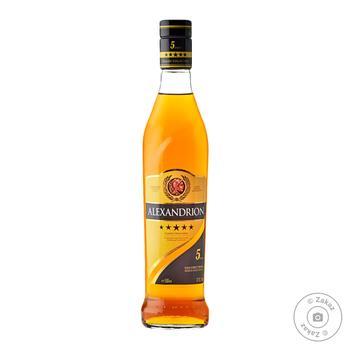 Напій алкогольний міцний Alexandrion 5 зірок 37,5% 0,5л - купити, ціни на МегаМаркет - фото 1