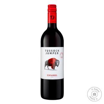 Вино Tussock Jumper Zinfandel красное сухое 14.5% 0.75л